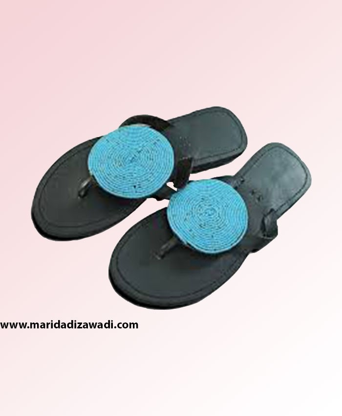 Masai beaded leather sandals