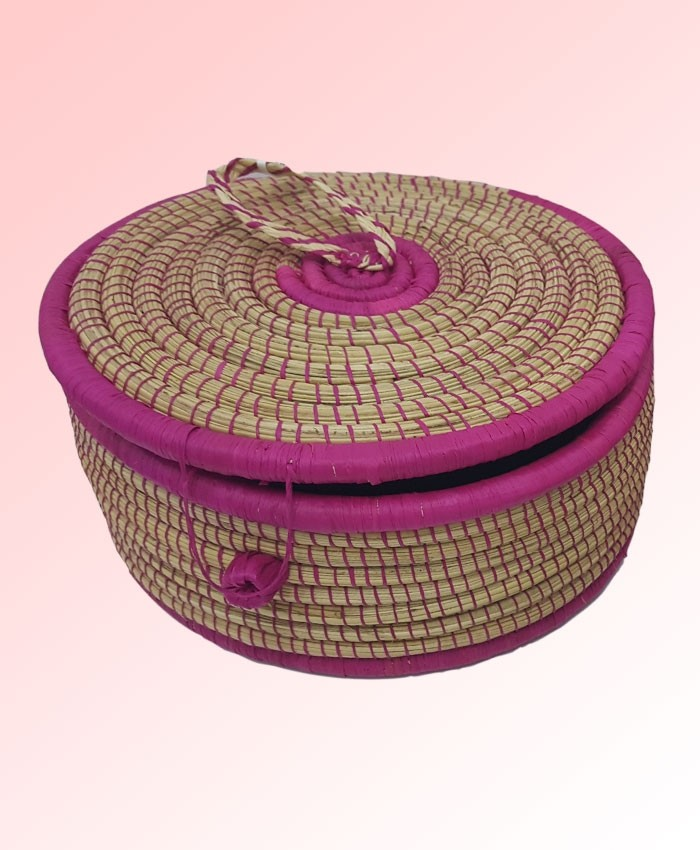 Banana Fiber Jewellery Box Round