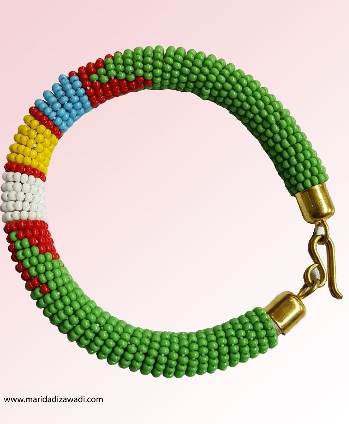 Maasai Bead Bangle with Clasp