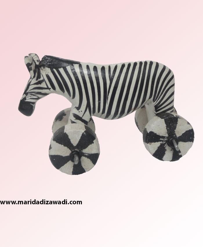 mahogany zebra on wheels