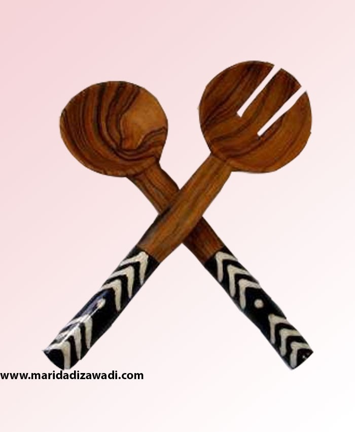 rose wood with bone salad set