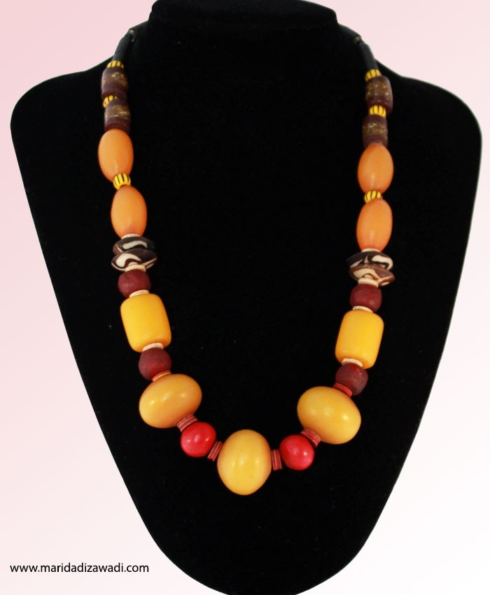 Kenyan Amber Bead Necklace