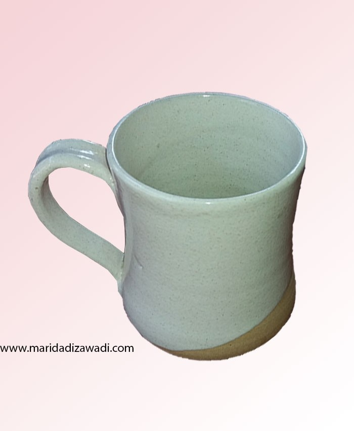 white terracoat mug