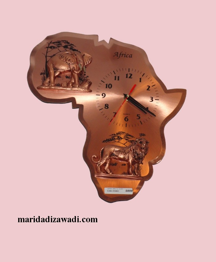 Copper wall clock Large